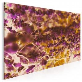 Abstrakcja w brązach i fioletach - nowoczesny obraz na płótnie