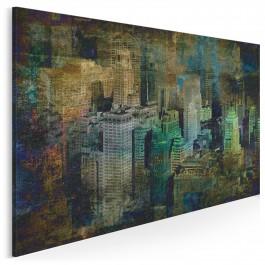 Nowy Jork w stylu vintage - nowoczesny obraz na płótnie - 120x80 cm