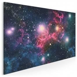 Historia wszechświata w jednym ujęciu - nowoczesny obraz do sypialni - 120x80 cm