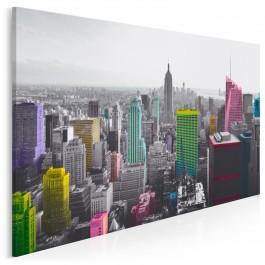 Tysiące barw Nowego Jorku - nowoczesny obraz do salonu - 120x80 cm