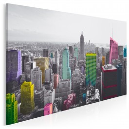 Tysiące barw Nowego Jorku - nowoczesny obraz do salonu