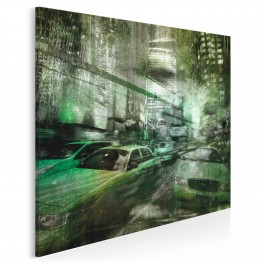 Nowy Jork w świecie z Matrixa - nowoczesny obraz na płótnie - 80x80 cm
