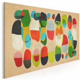 Barwy szczęścia - nowoczesny obraz na płótnie