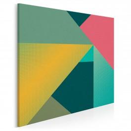 Iluzja konstruktywizmu - nowoczesny obraz na płótnie - 80x80 cm