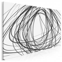 Rewolta czerni - nowoczesny obraz na płótnie - 120x80 cm