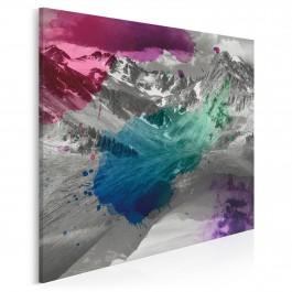 Podstawowe składniki natury - nowoczesny obraz na płótnie - 80x80 cm
