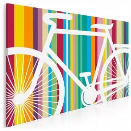 Rowerowy energetyk - nowoczesny obraz na płótnie - 120x80 cm