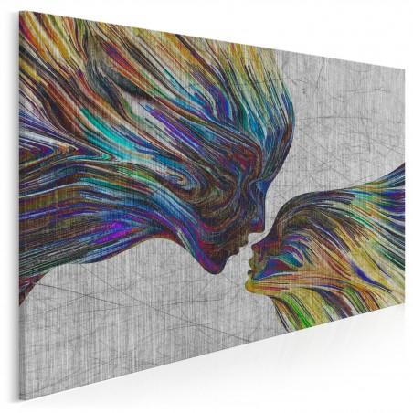 Taniec żywiołów - nowoczesny obraz na płótnie - 120x80 cm