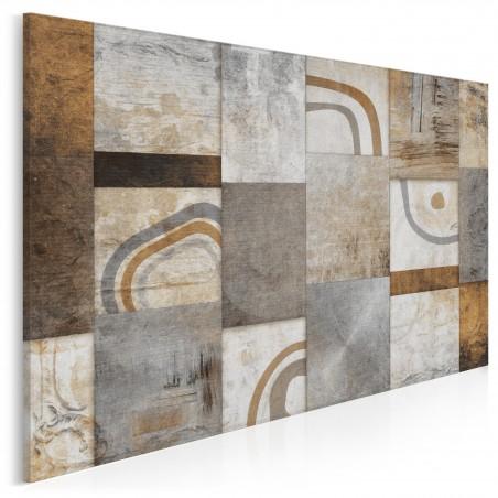 Mozaika myśli - nowoczesny obraz na płótnie - 120x80 cm