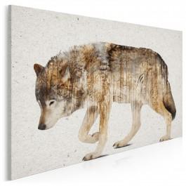 Wataha leśnych szumów - nowoczesny obraz na płótnie - 120x80 cm