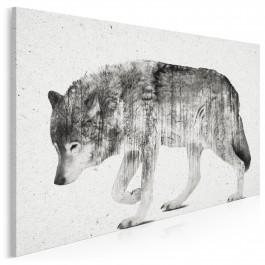 Leśna wataha - nowoczesny obraz na płótnie