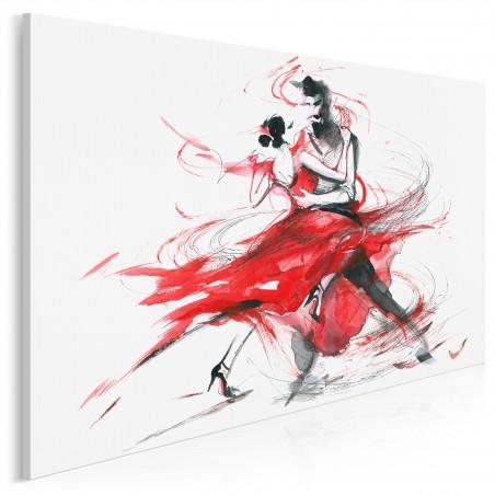 Tango - nowoczesny obraz na płótnie - 120x80 cm