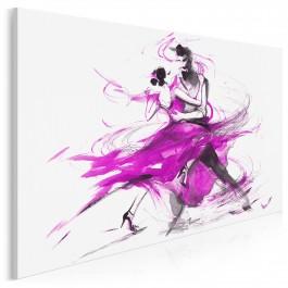 Tango w purpurze - nowoczesny obraz na płótnie - 120x80 cm