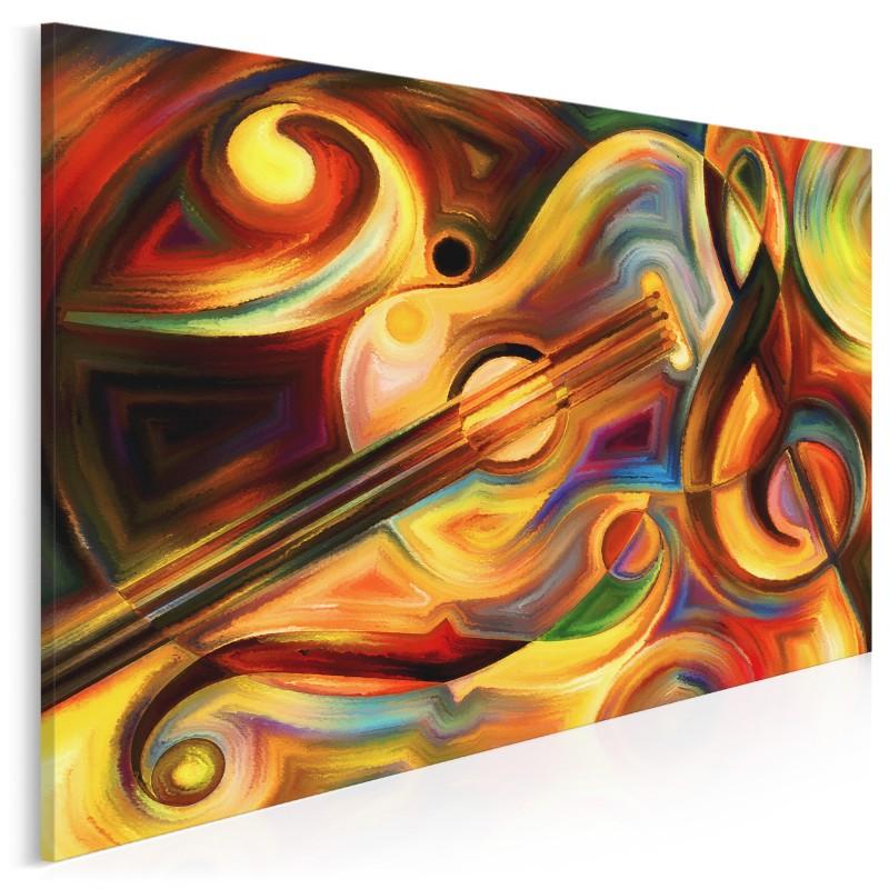 Rytm - nowoczesny obraz na płótnie - 120x80 cm