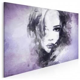 Dusza z antracytu we fioletach - nowoczesny obraz na płótnie - 120x80 cm