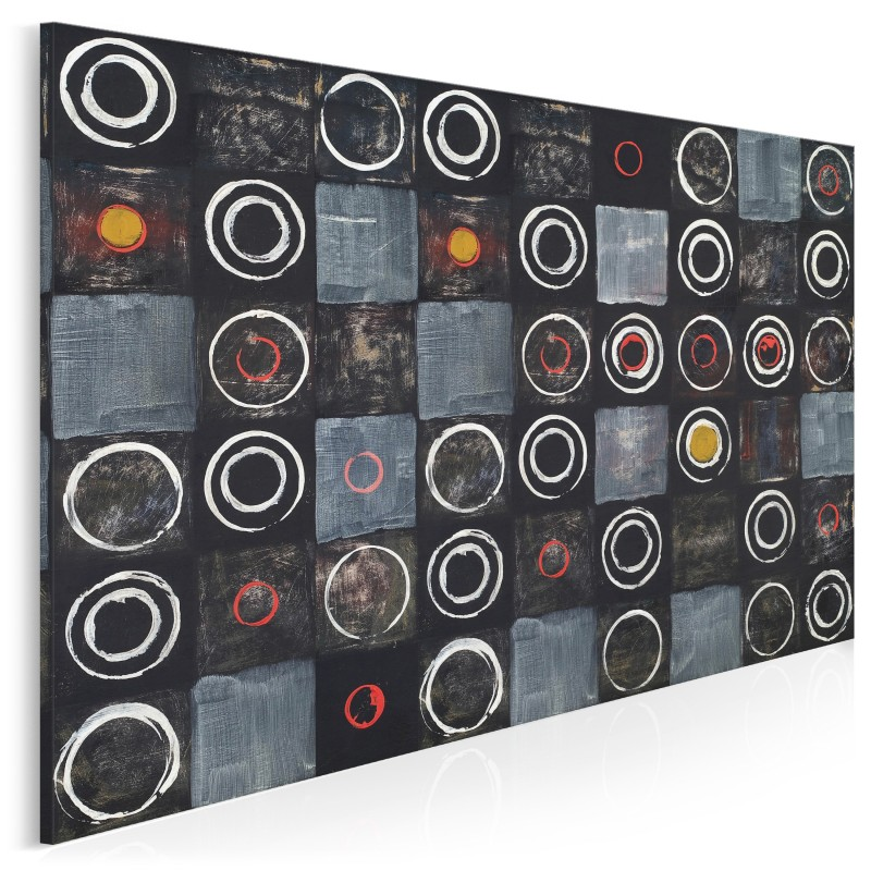 Spotkania - nowoczesny obraz na płótnie - 120x80 cm