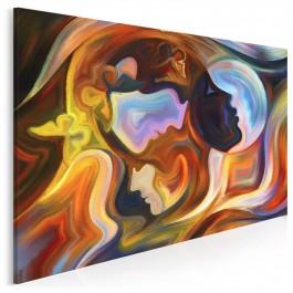Głos serca, głos rozsądku - nowoczesny obraz na płótnie - 120x80 cm
