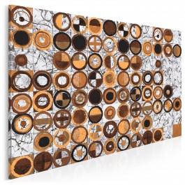 Pokrewne dusze w brązach - nowoczesny obraz do salonu - 120x80 cm