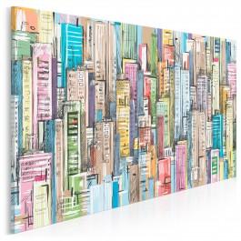 Między ścianami - nowoczesny obraz na płótnie - 120x80 cm