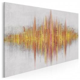 Poezja dźwięku - nowoczesny obraz na płótnie - 120x80 cm