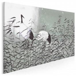 Dumne żurawie - nowoczesny obraz na płótnie