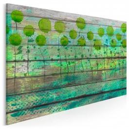 Szmaragdowa ekspresja - nowoczesny obraz na płótnie - 120x80 cm