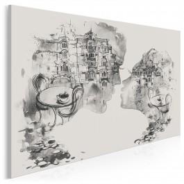 Kochankowie z Werony - nowoczesny obraz na płótnie - 120x80 cm