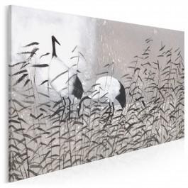 Dostojne żurawie - nowoczesny obraz na płótnie