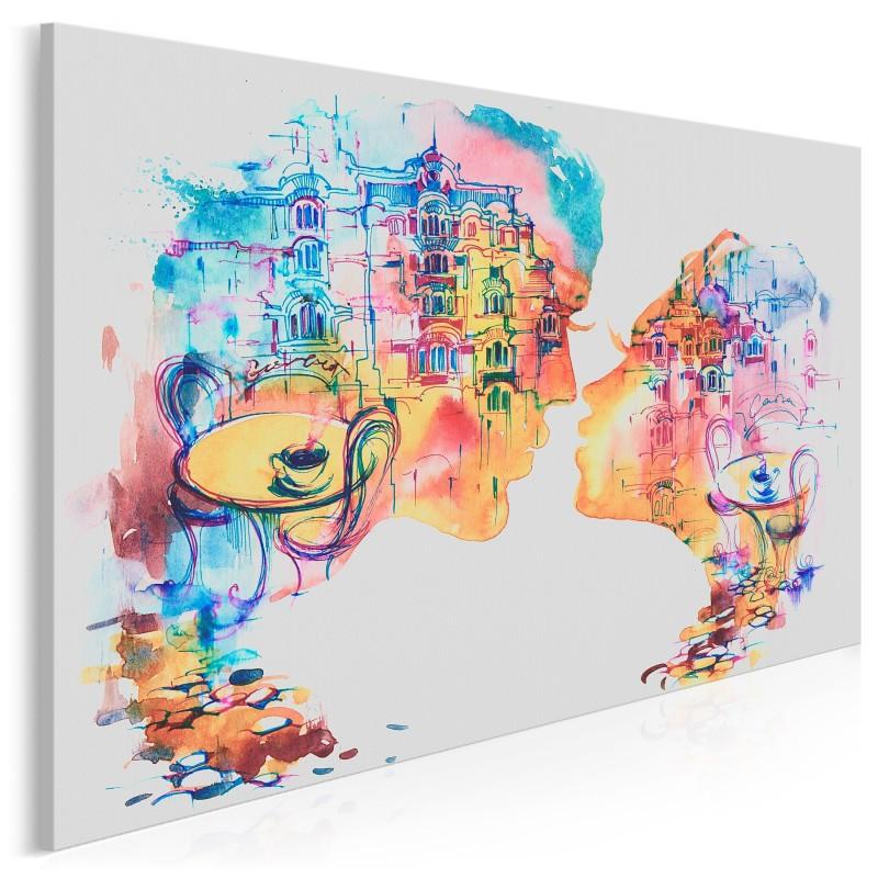 Romans w Barcelonie - nowoczesny obraz na płótnie