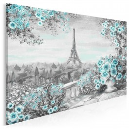 Paryskie noce - nowoczesny obraz na płótnie - 120x80 cm