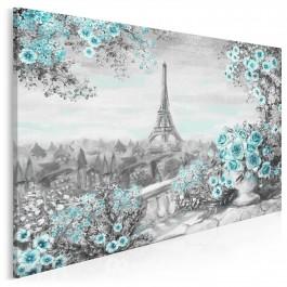 Paryskie noce - nowoczesny obraz na płótnie