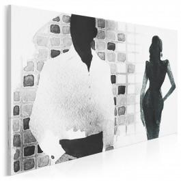 Randka w ciemno - nowoczesny obraz na płótnie - 120x80 cm
