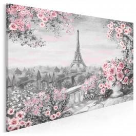 Paryskie dnie - nowoczesny obraz na płótnie - 120x80 cm