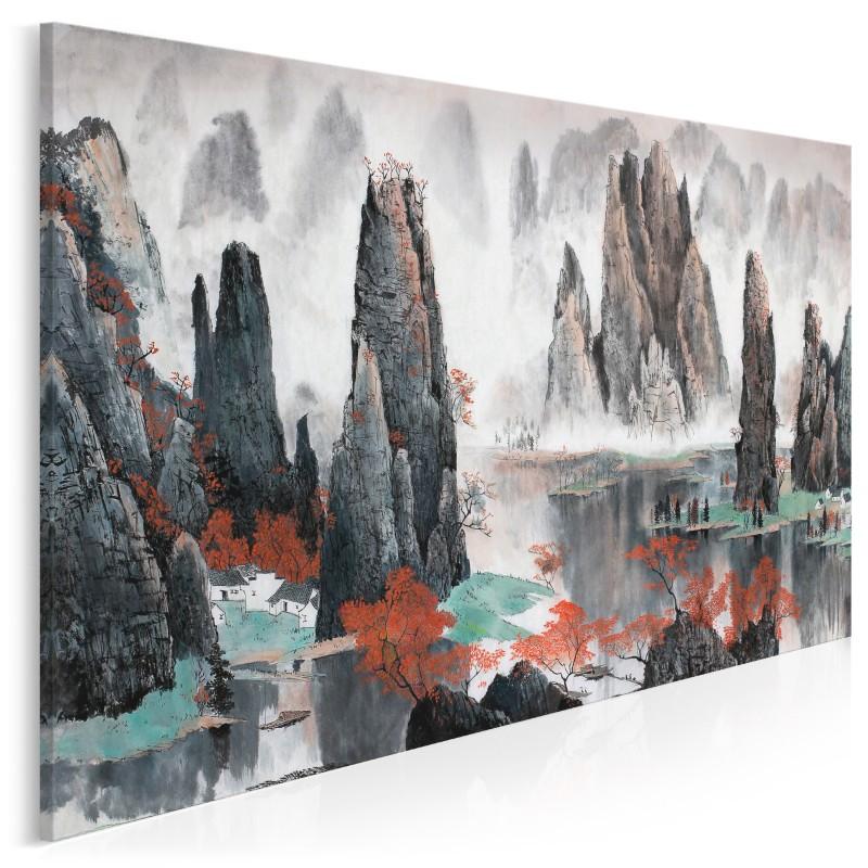 Mistyka gór Tianzi - nowoczesny obraz na płótnie