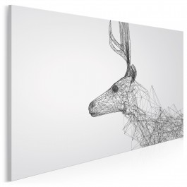 Profil doskonałości - nowoczesny obraz na płótnie - 120x80 cm