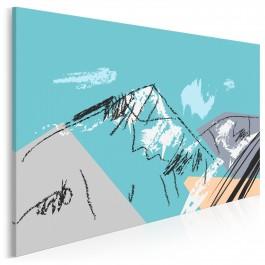 Oda do gór - nowoczesny obraz na płótnie - 120x80 cm