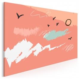 Pąsowa fraszka - nowoczesny obraz na płótnie - 120x80 cm