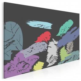 Pieśń ciemności - nowoczesny obraz na płótnie - 120x80 cm