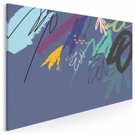 Liryczne indygo - nowoczesny obraz na płótnie - 120x80 cm