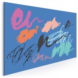 Lazurowa ballada - nowoczesny obraz na płótnie - 120x80 cm