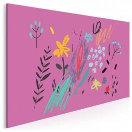 Wrzosowy sonet - nowoczesny obraz na płótnie - 120x80 cm