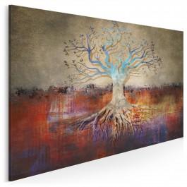 Korzenie romantyzmu - nowoczesny obraz na płótnie - 120x80 cm