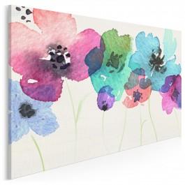 Polne kwiaty - nowoczesny obraz na płótnie - 120x80 cm
