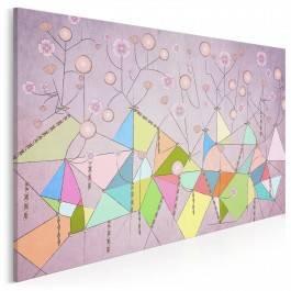 Dmuchawce, latawce, wiatr... - nowoczesny obraz na płótnie - 120x80 cm