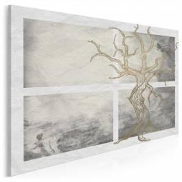 Egzystencjalna przystań - nowoczesny obraz na płótnie - 120x80 cm