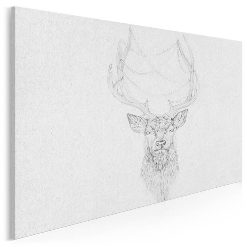 Nordyckie szkice - nowoczesny obraz na płótnie - 120x80 cm
