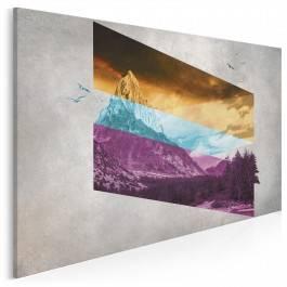 Duch gór - nowoczesny obraz na płótnie - 120x80 cm