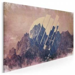 Tytanowe wzgórza - nowoczesny obraz na płótnie - 120x80 cm