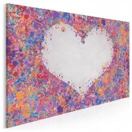 Miłosne konfetti - nowoczesny obraz na płótnie - 120x80 cm