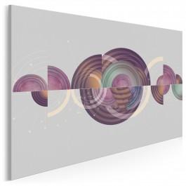W kołowrotku myśli - nowoczesny obraz na płótnie - 120x80 cm